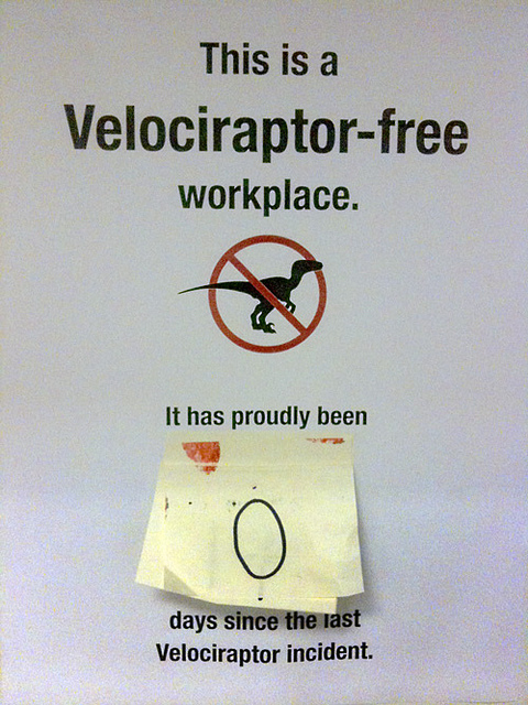 Damned science loving velociraptors!