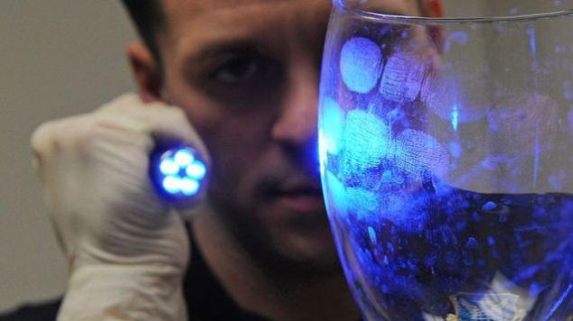 fingerprints on a glass
