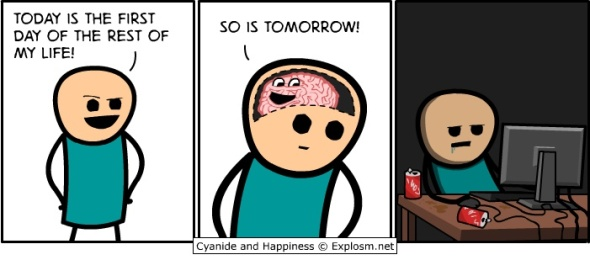 procrastination Cyanide and happiness