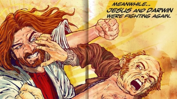darwin fighting jesus