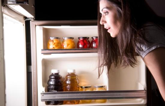 fridge in dark
