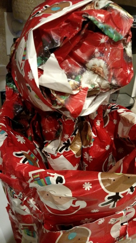 Stealth wrapping of christmas gifts