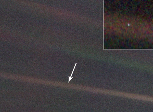 The pale blue dot we call home