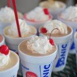 high sugar milkshake