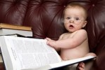 one smart looking baby