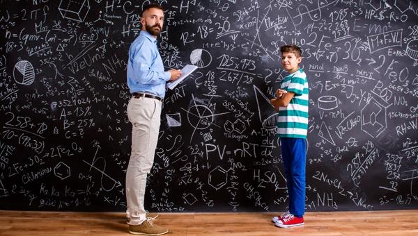children in math