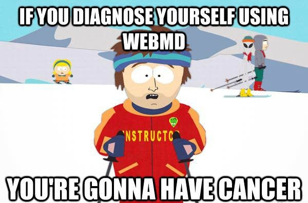 webMD cancer scare