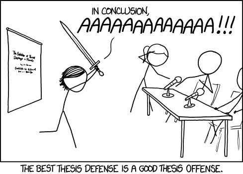 Day 100 - PhD defense offense
