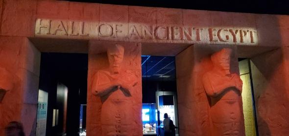 Egypt exibit entrance