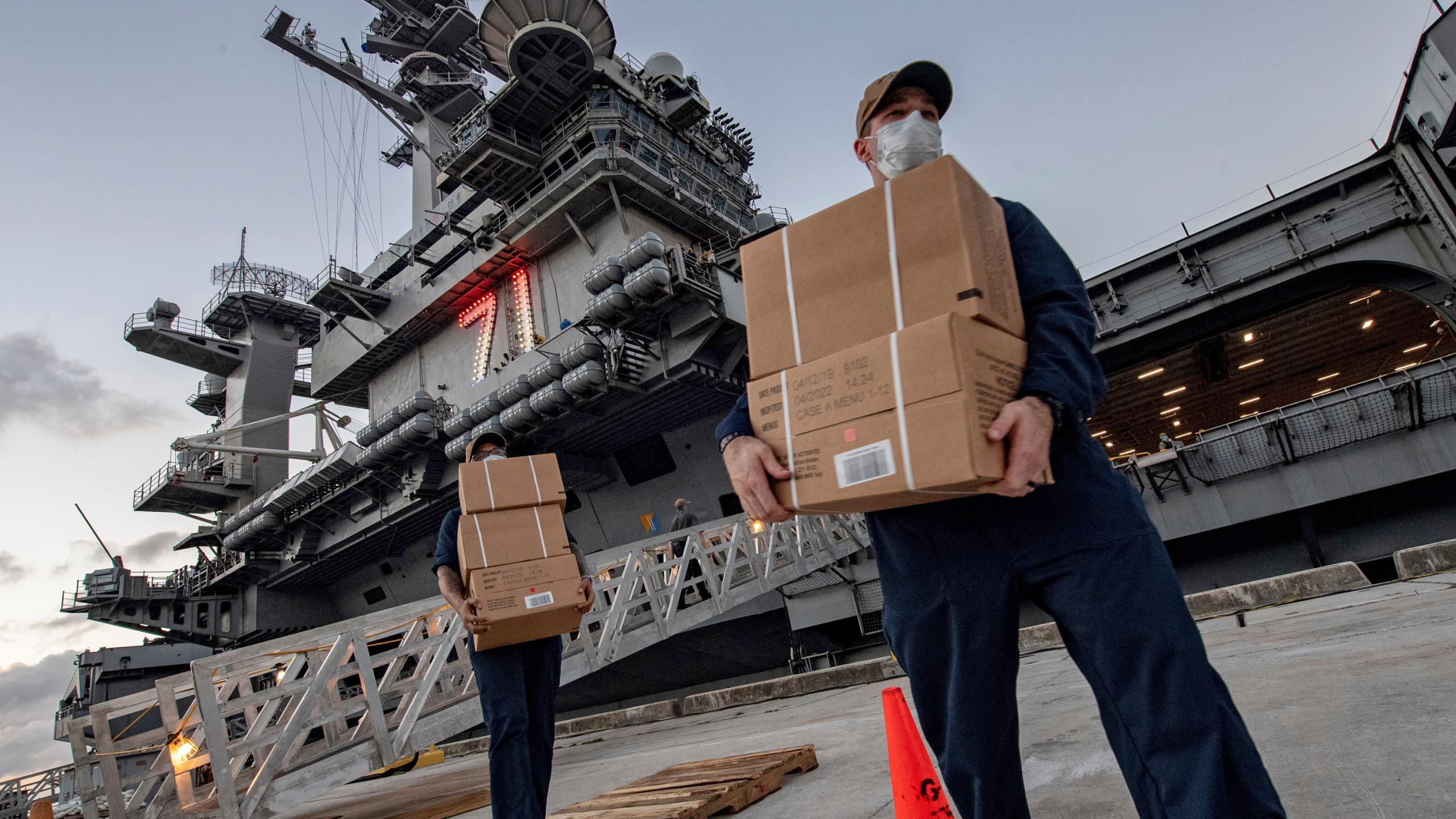 USS Roosevelt Outbreak Navy Guam