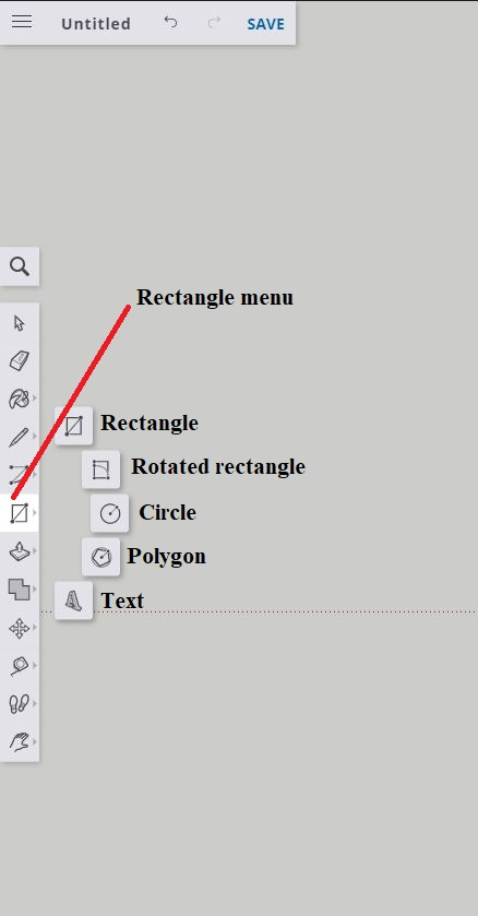 Sketchup rectangle menu