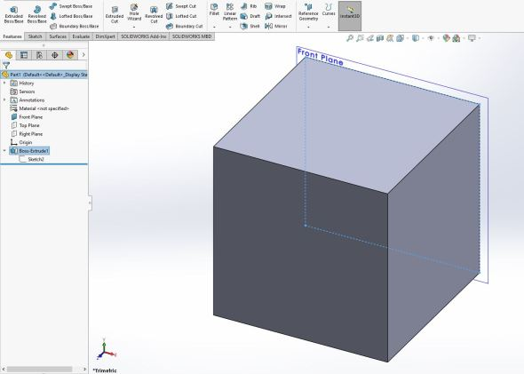 Solidworks cube