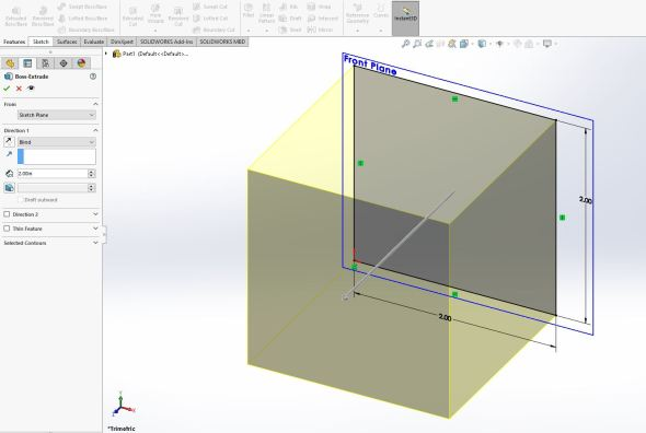 Solidworks extrude