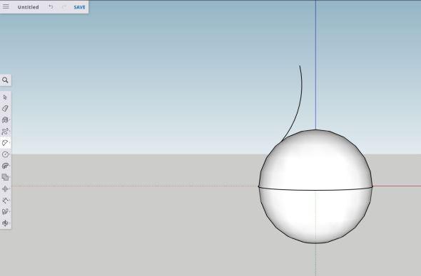 Sketchup - arc step 1