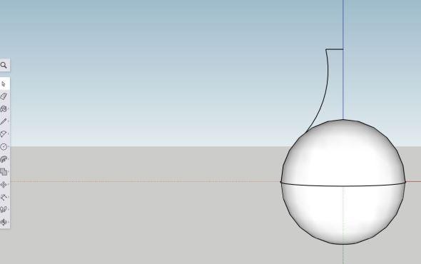Sketchup - arc step 2