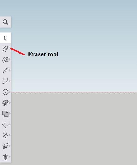 Sketchup - eraser tool