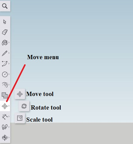 Sketchup - move menu
