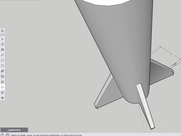 Sketchup - multifin extrude