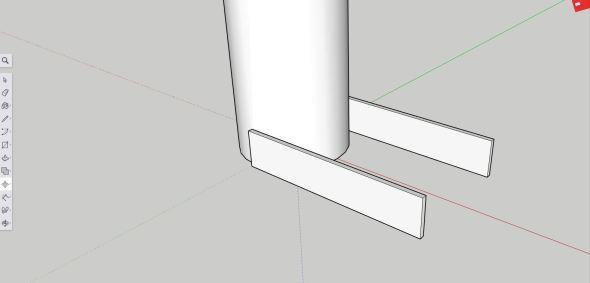 Sketchup - neck hinge