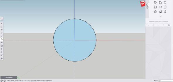 Sketchup - sphere step 1