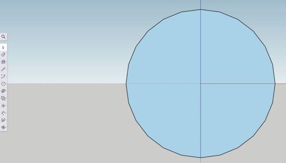 Sketchup - sphere step 2