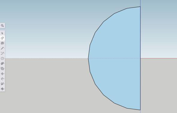 Sketchup - sphere step 3