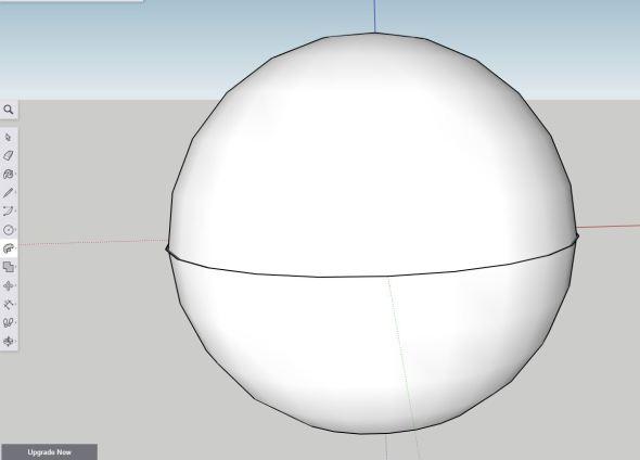 Sketchup - sphere step 7