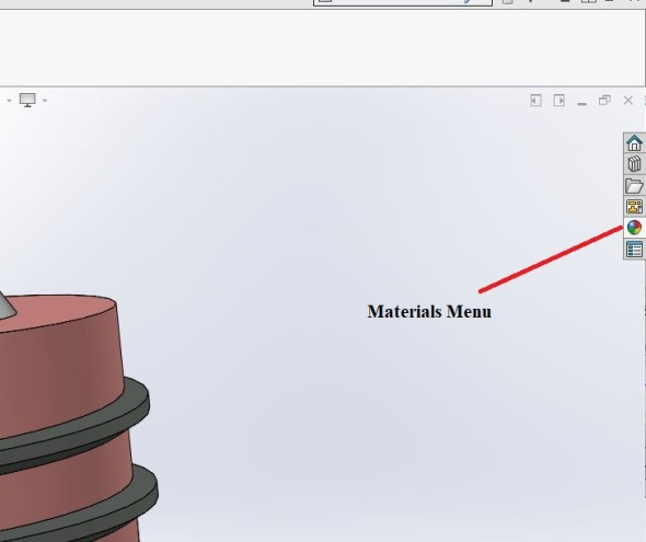 Solidworks - materials menu