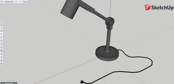 Sketchup - finished lamp