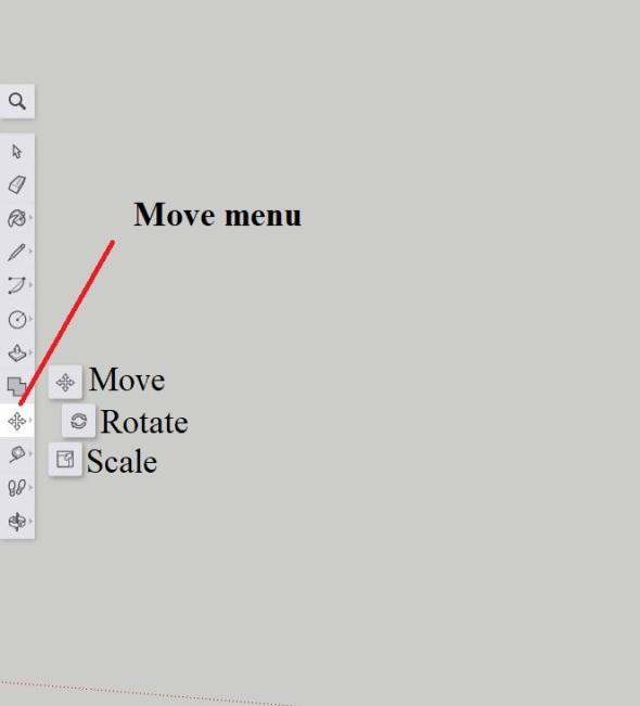 Sketchup - Move menu