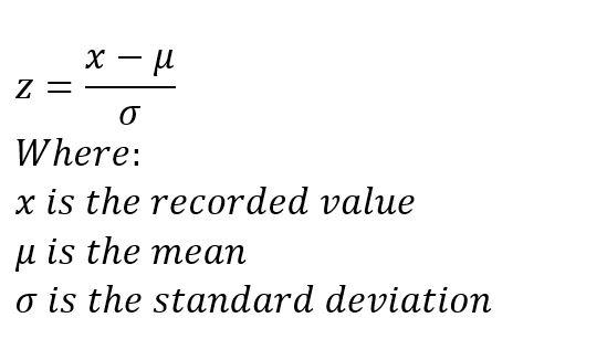 z-score formula