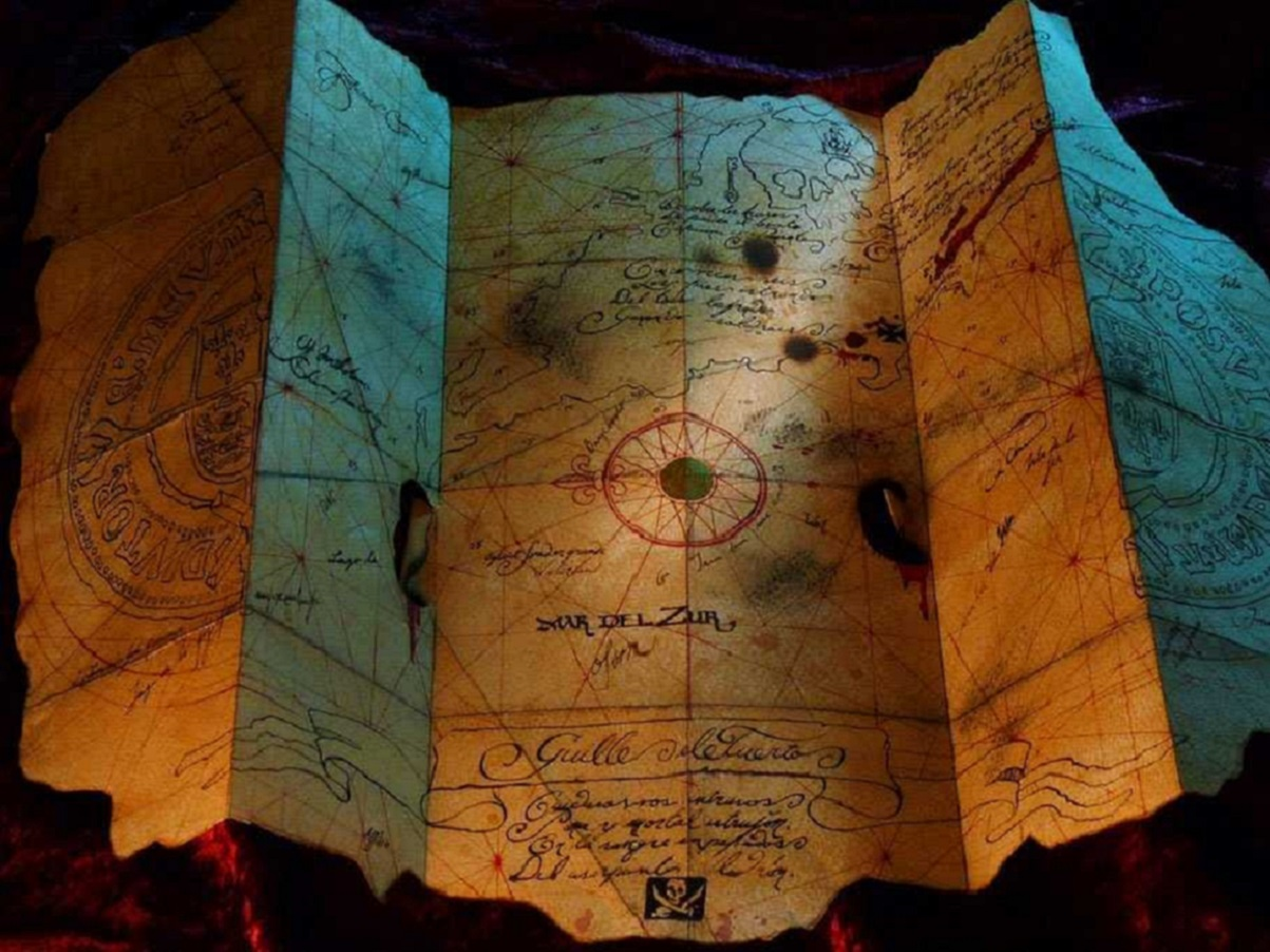 A pirate's treasure map.